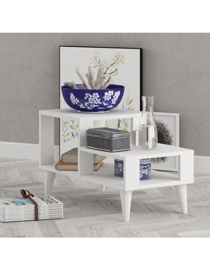 TABLE BASSE LOCALE BLANC MAT